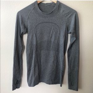 Lululemon Swiftly Tech Long Sleeve Top Gray 4